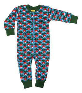 NEU: Einteiler-Pyjama Radieschen auf Blau von DUNS