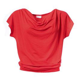 NEU: Damenshirt  mit Wasserfallkragen in Hibiscus von Froy&Dind