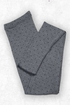 Wolle-Damenleggings in Grau mit Tupfen