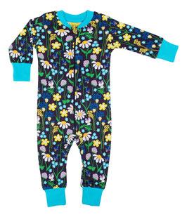 NEU: Einteiler-Pyjama Midsummer auf Violet bis Grösse 128 von DUNS