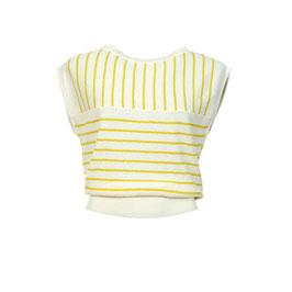 Shirt gestrickt in Kreide mit gelben Streifen von Froy&Dind