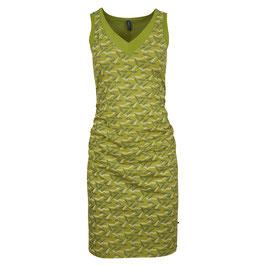 NEU: Kleid mit V-Ausschnitt und Federnmuster von Tranquillo