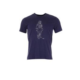 T-shirt mit Astronaut auf Blau von Munoman