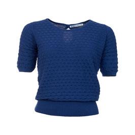 NEU: Kurzarm Pullover gestrickt in Blau von Froy&Dind