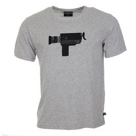 T-shirt mit Kamera auf Hellgrau von Munoman