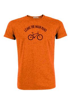NEU: T-shirt Leave the main road auf Orange von Greenbomb