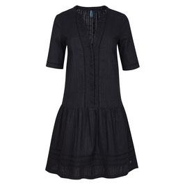 NEU: Sommerkleid in Schwarz mit Webstreifen von Tranquillo