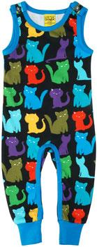 SALE: Playsuit mit farbigen Katzen von DUNS