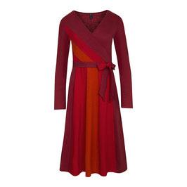NEU: Wickel-Kleid in Rot mit Streifen von Tranquillo
