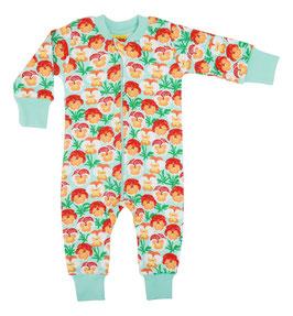 NEU: Einteiler-Pyjama mit Veilchen auf Mint bis Grösse 134 von DUNS