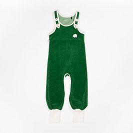 Velours-Strampler in grün von Alba Baby