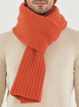 NEU: Woll-Schal gestrickt in Orangerot von Organication