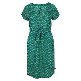 SALE: Blusen-Kleid mit Lotus auf Grün von Tranquillo
