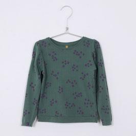 NEU: Blusen-Shirt mit Heidelbeeren auf Grün von Lötiekids