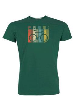 NEU: T-shirt Free auf Flaschengrün von Greenbomb
