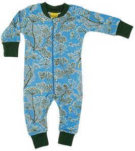 NEU: Einteiler-Pyjama mit Dillblüten blau von DUNS