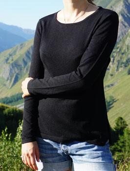 Schwarzer Damenpulli aus Pima-Baumwolle von Dajoro