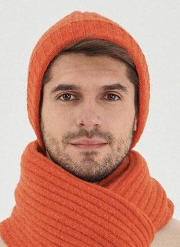 NEU: Woll-Mütze gestrickt in Orangerot von Organication