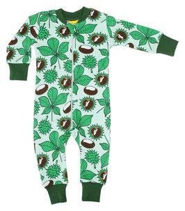 NEU: Einteiler-Pyjama mit  Kastanien bis Grösse 140 von DUNS