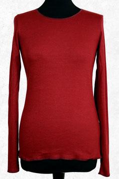 Damenshirt gestreift Rot-Bordeaux mit Abschluss in bordeaux von Jalfe
