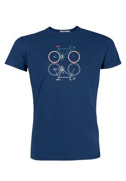 NEU: T-shirt Bike Spiegelung auf Blau von Greenbomb