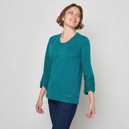 SALE: Tolles Shirt in Türkis/Petrol aus Slub-Jersey von Tranquillo