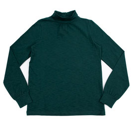SALE: Shirt mit Kragen uni Dunkegrün von Lily Balou