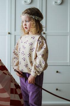 NEU: Sweatshirt mit Heidelbeeren auf Écru von Lötiekids