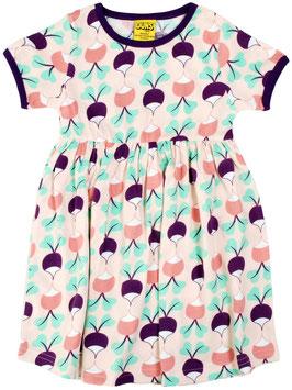 SALE: Kurzarm-Kleid mit Radiesli auf Zartrosa von DUNS