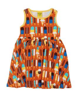 SALE: Kleid mit Glace auf Braun-Orange von DUNS