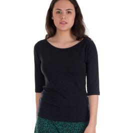Damenshirt mit halblangen Ärmeln schwarz von Froy&Dind