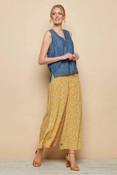 NEU: Weite Sommer-Culotte mit Blümchen auf Gelb  von Tranquillo