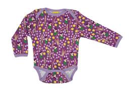 NEU: Body mit  Blumenwiese auf Violett von DUNS