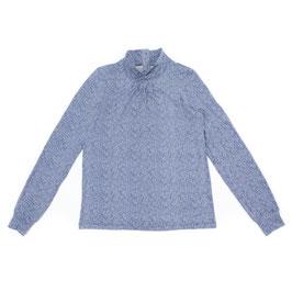 SALE: Shirt mit Kragen meliert in Blau von Lily Balou