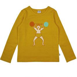 NEU: Langarm-Shirt Strong auf Honiggelb von Baba