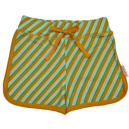 Shorts mit diagonalen Streifen Türkis/Grün/Chai-Tee von Baba