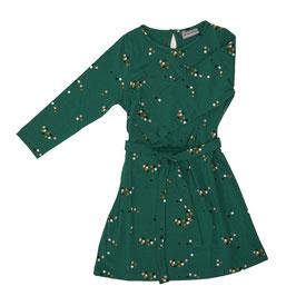 Kleid mit farbigen Tupfen auf Grün von Froy&Dind