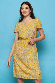 SALE: Sommer-Kleid mit Blümchen auf Gelb Tranquillo
