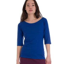 Damenshirt mit halblangen Ärmeln mittelblau von Froy&Dind