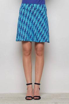 SALE: Jupe gemustert in Blautönen von Tranquillo