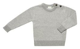 SALE: Wolle Strick-Pulli in Grau gemustert von Puri Organic