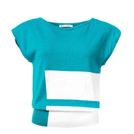 SALE: Shirt gestrickt in Capri/Weiss von Froy&Dind