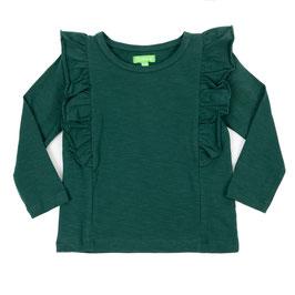 SALE: Langarm-Shirt mir Rüsche in Dunkelgrün von Lily Balou