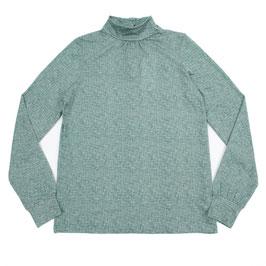 SALE: Shirt mit Kragen meliert in Grün von Lily Balou