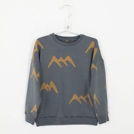 Sweatshirt mit Bergen auf Anthrazit von Lötiekids