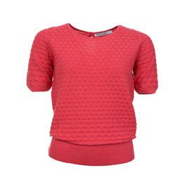SALE: Kurzarm Pullover gestrickt in Hot Pink von Froy&Dind