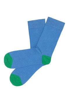 NEU: Socken uni Wasserblau mit Grün von Tranquillo