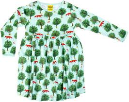 SALE: Kleid mit Fuchs und Baum in Jade von DUNS