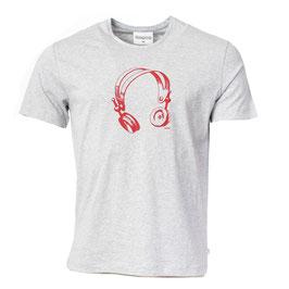 NEU: T-shirt Grau mit Kopfhörer von Munoman