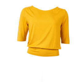 NEU: Damenshirt mit 1/2 Ärmeln in Mustard